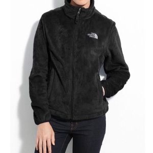 The North Face Black Fuzzy Fleece Sport Jacket